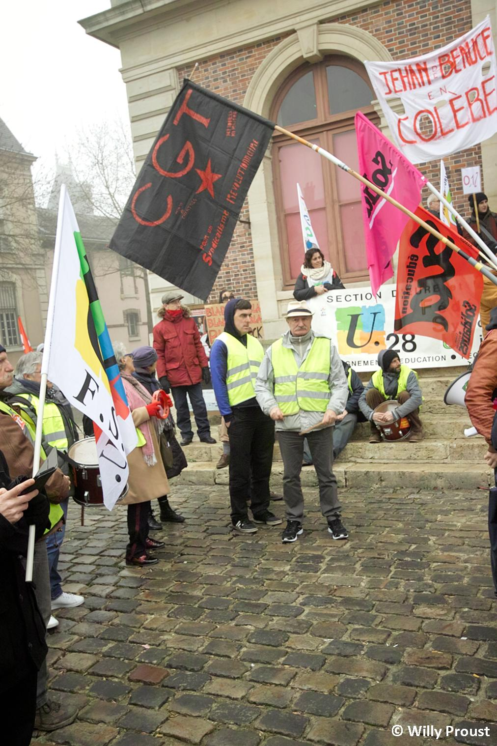 Chartres 24-01-2020 Manifestation Retraites 23 [©Willy Proust]