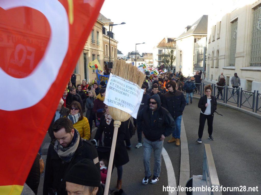 Chartres 29-01-2020 Manifestation Retraites 05