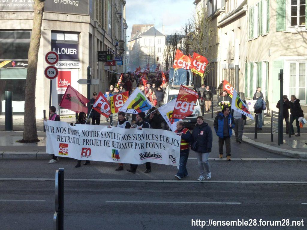 Chartres 29-01-2020 Manifestation Retraites 07