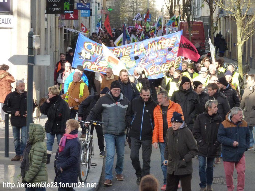 Chartres 29-01-2020 Manifestation Retraites 10