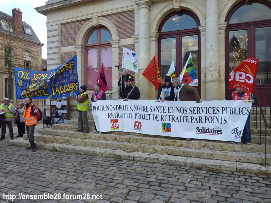 Chartres 29-01-2020 Manifestation Retraites 13