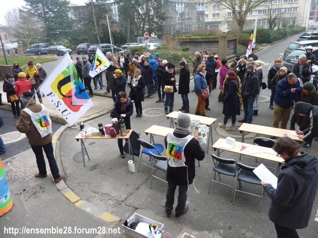 Chartres DSDEN 24-01-2020 Rassemblement La coupe est plaine Carte-scolaire Retraites 01