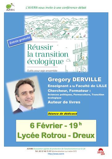 G.Derville Réussir la transition écologique [Affiche]