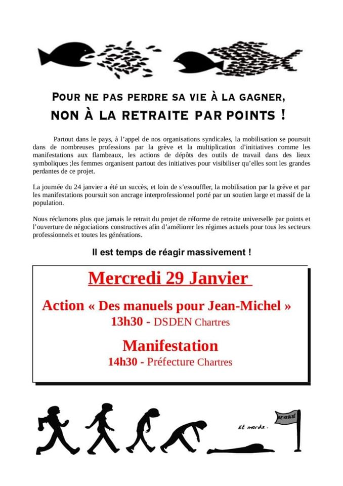 Tract AG intersyndicale CGT Éduc-action SUD-Éducation