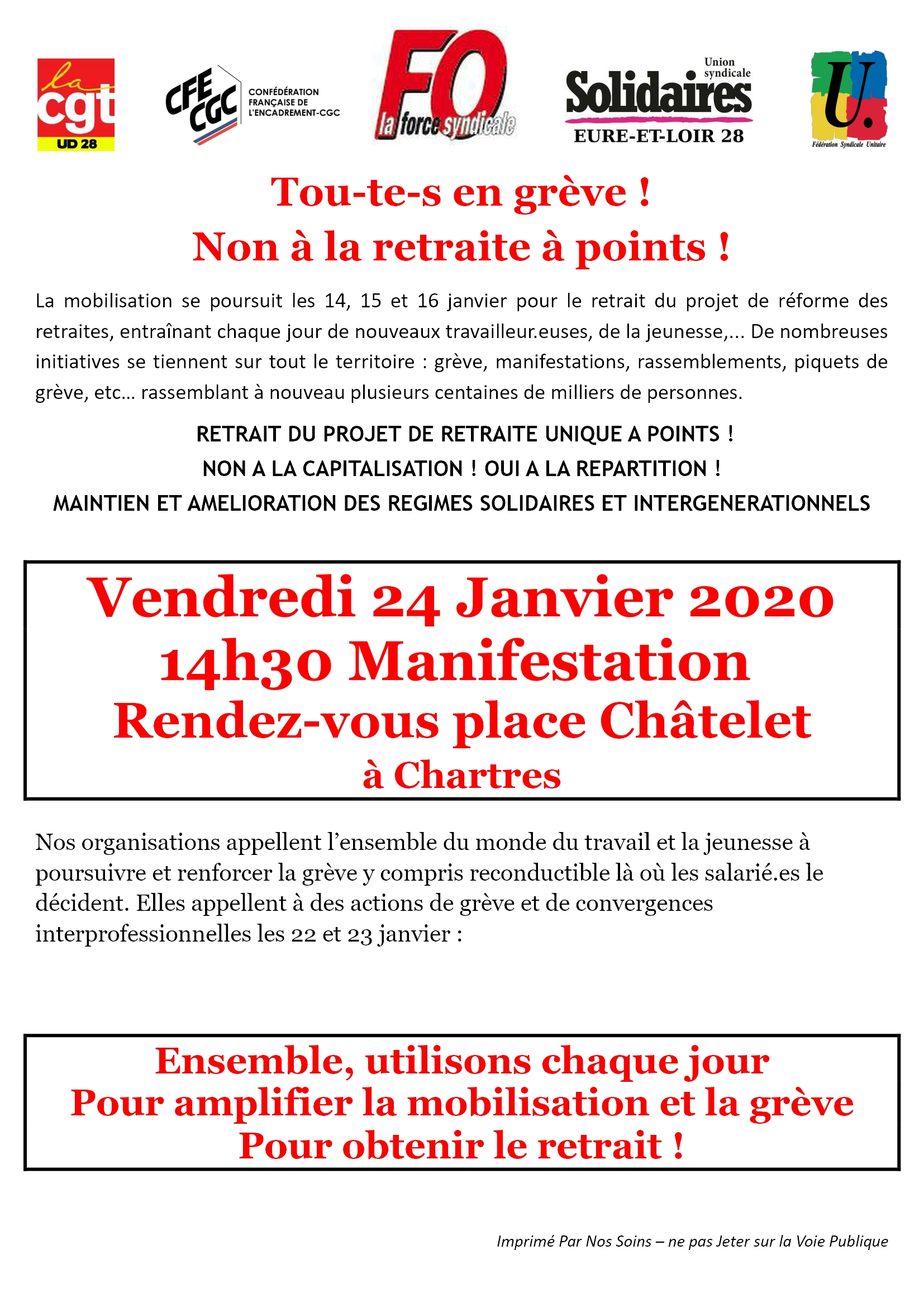 Tract Intersyndicale 28 pour 24-01-2020 R