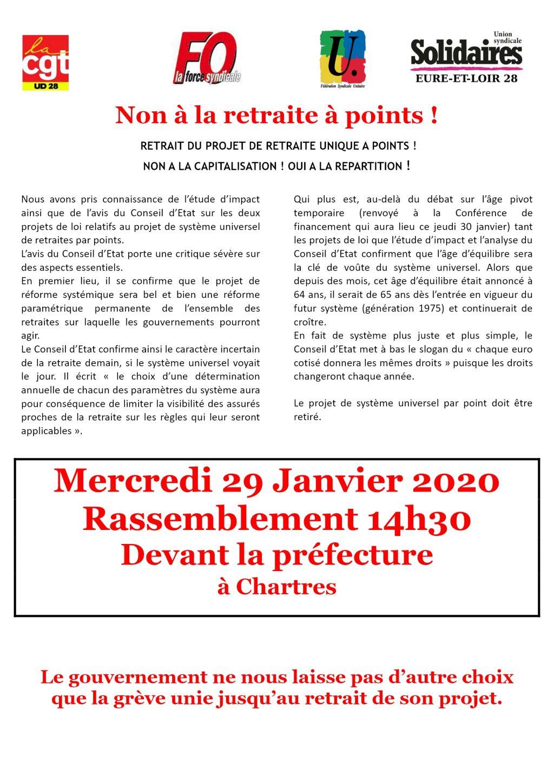 Tract Intersyndicale E&L pour 29 janvier