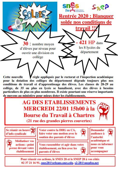 Tract SNES AG des établissements 22-01-2020