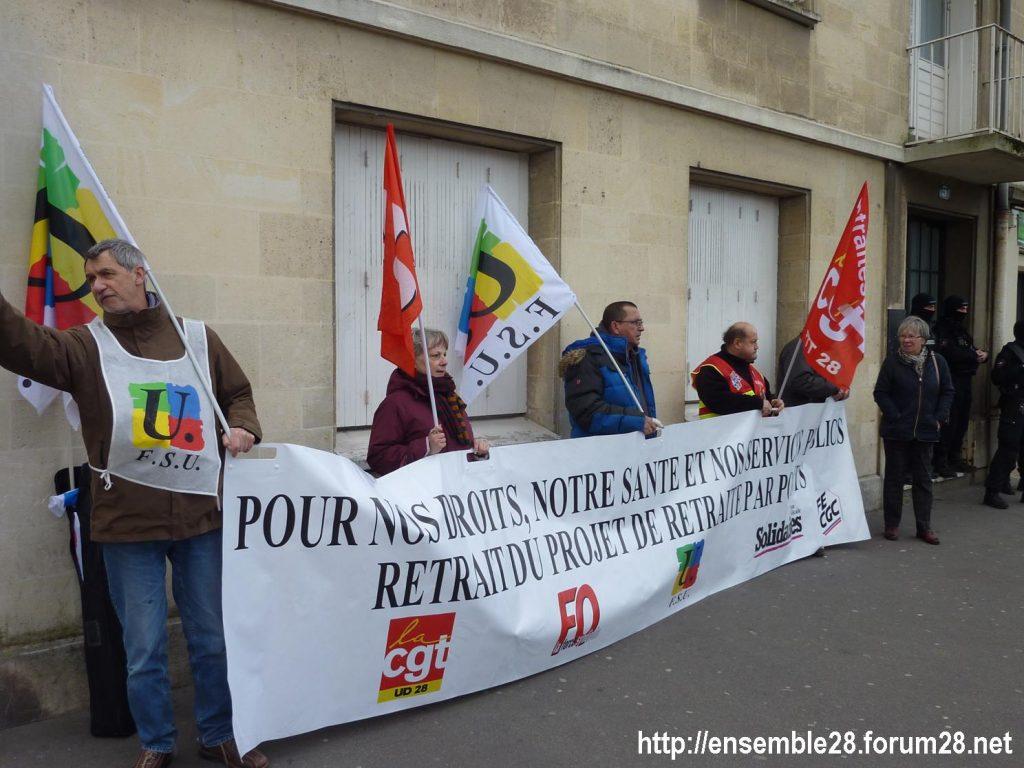 Chartres 20-02-2020 Rassemblement-Manifestation Retraites 05