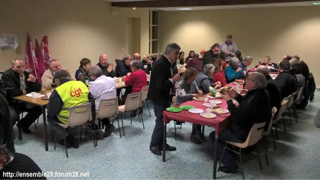 Nogent-le-Rotrou 20-02-2020 Marche Laval-Paris jusqu'au le Retrait Repas Échange 02