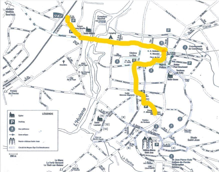 Nogent-le-Rotrou Parcours Marche 53 [plan]