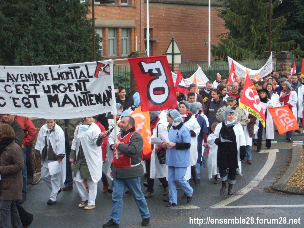 Châteaudun 22-11-2008 Hôpital Manifestation