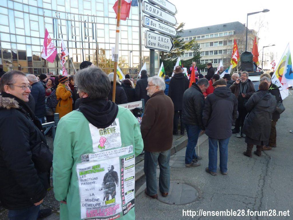 Chartres 03-03-2020 Rassemblement 49.3 Retraites 4
