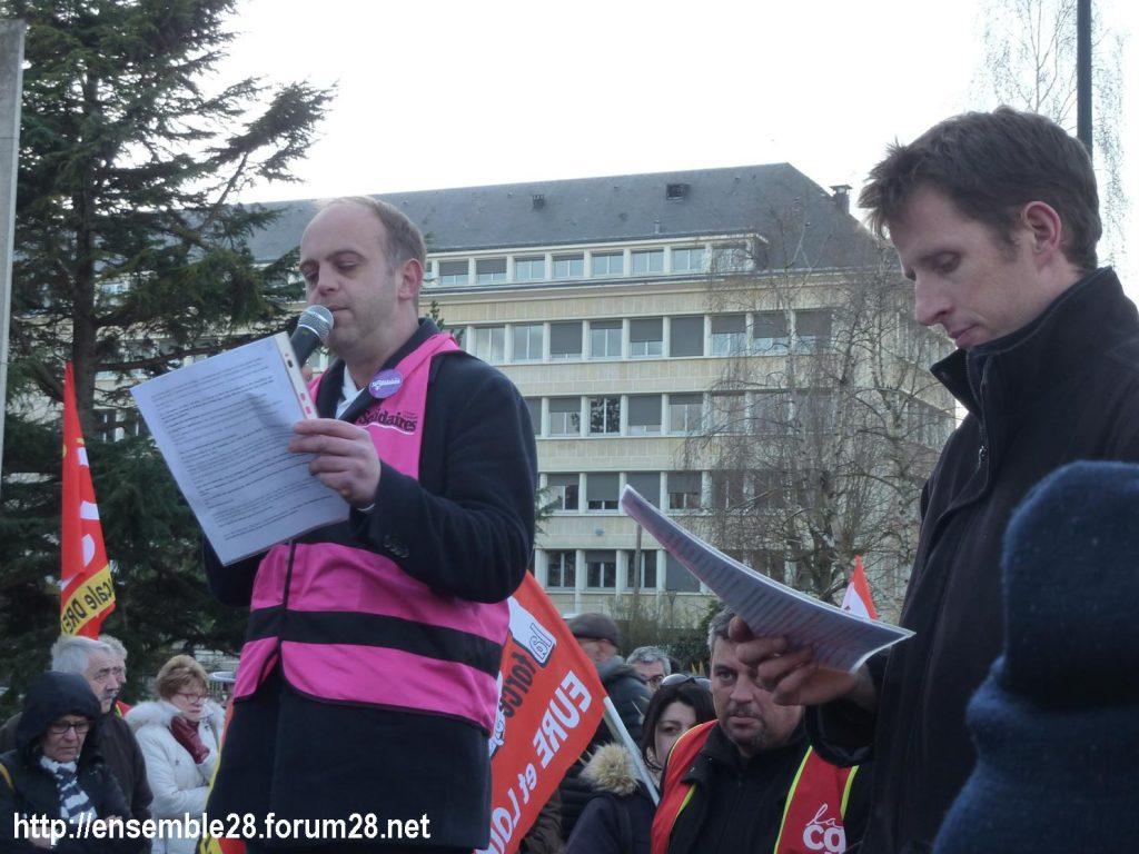Chartres 03-03-2020 Rassemblement 49.3 Retraites 5