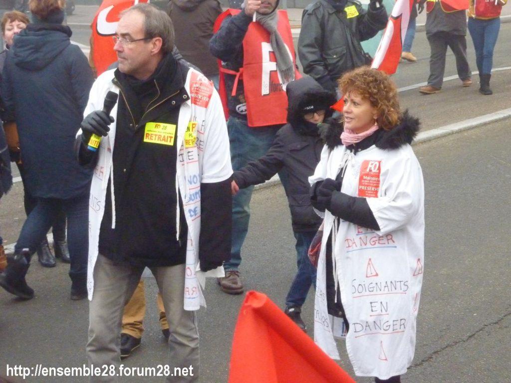Chartres 05-02-2020 Manifestation Retraites 22