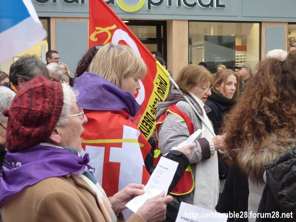 Chartres 07-03-2020 Droits des Femmes Hymne 06