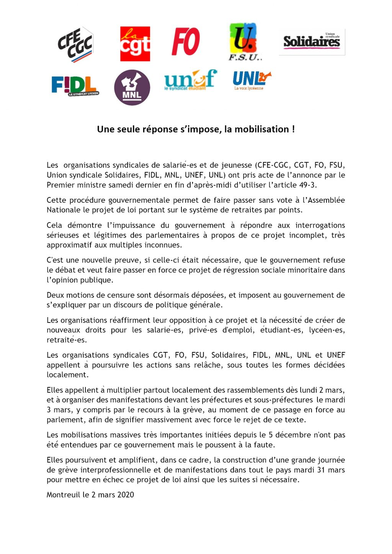 Communique_intersyndicale_nationale_02.03.2020