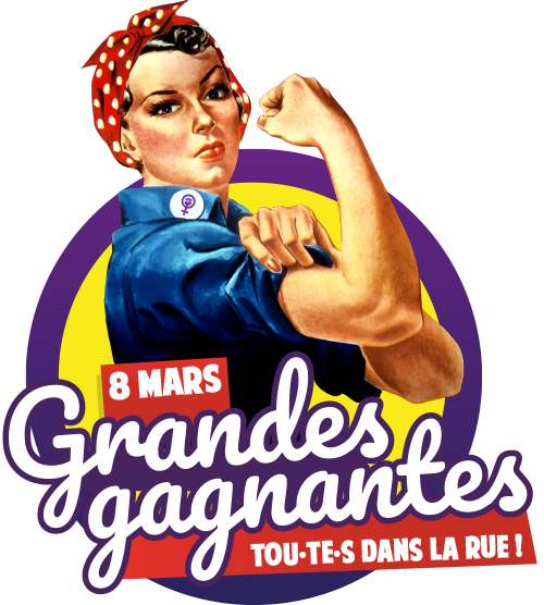 Logo Femmes grandes gagnantes [fond gris]