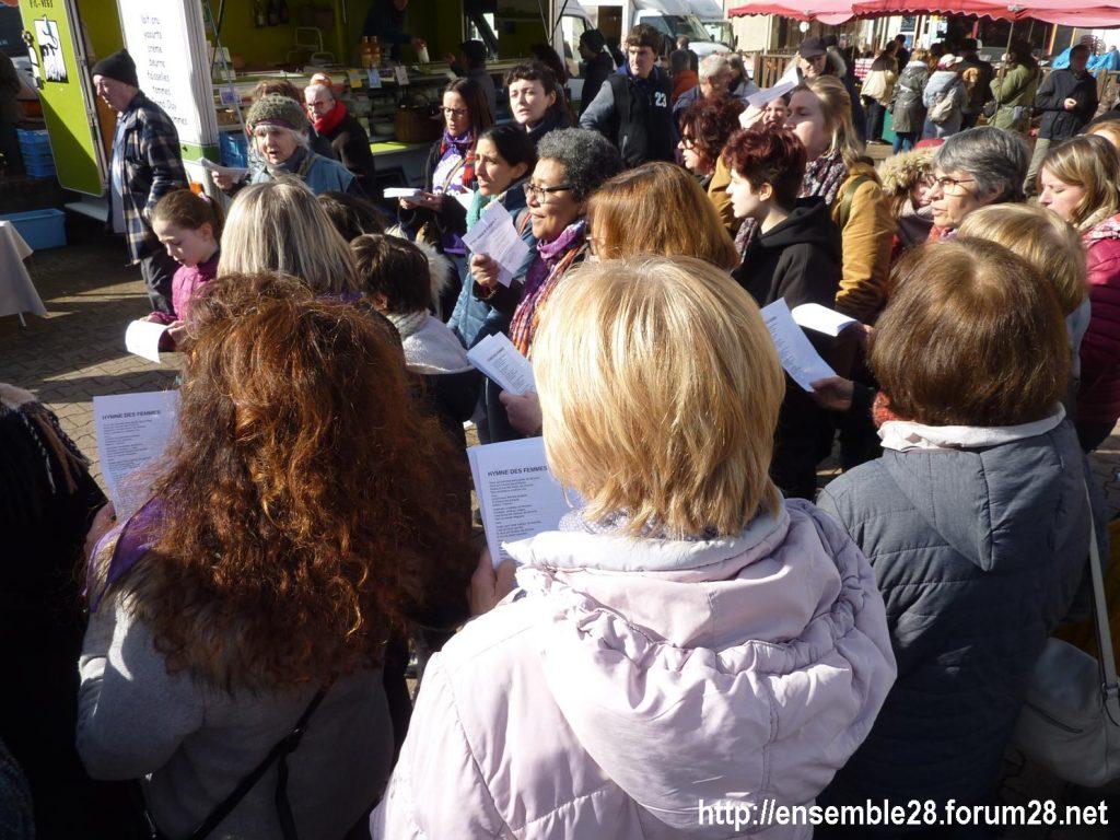 Nogent-le-Rotrou Marché Hymne des femmes [07-03-2020] 03