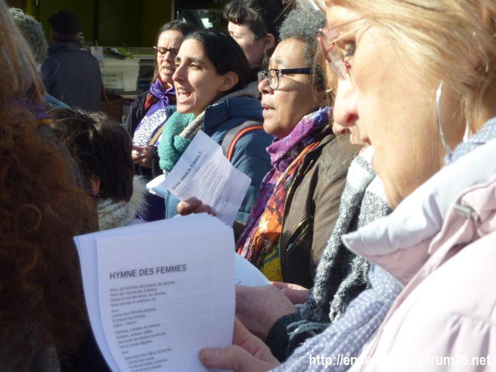 Nogent-le-Rotrou Marché Hymne des femmes [07-03-2020] 04