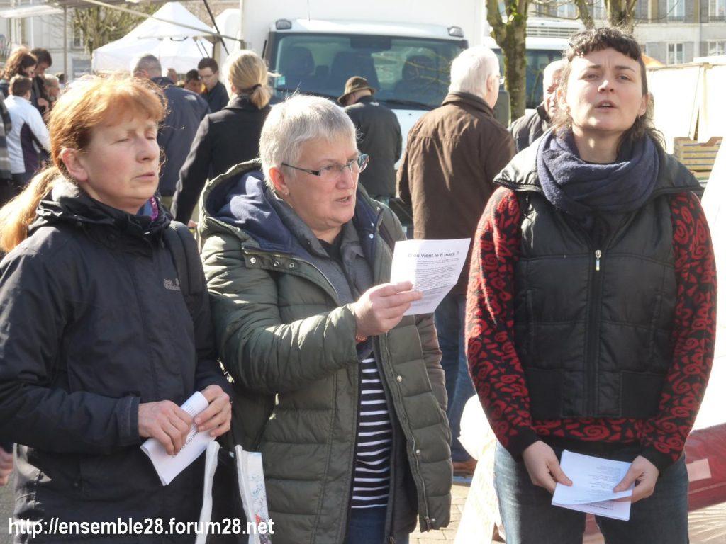 Nogent-le-Rotrou Marché Hymne des femmes [07-03-2020] 06