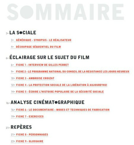 Sommaire Dossier La Sociale 1-1