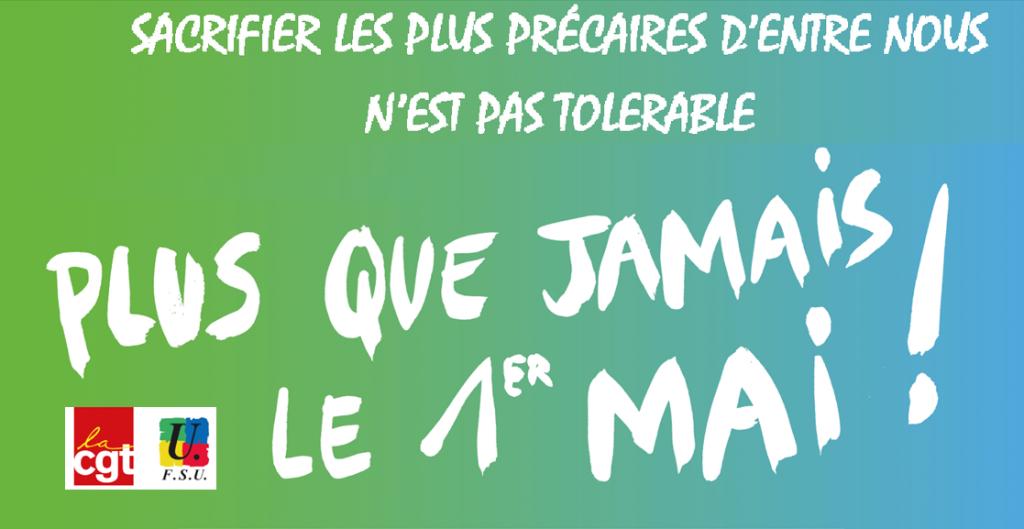 CGT FSU visuel-1er-mai-précaires