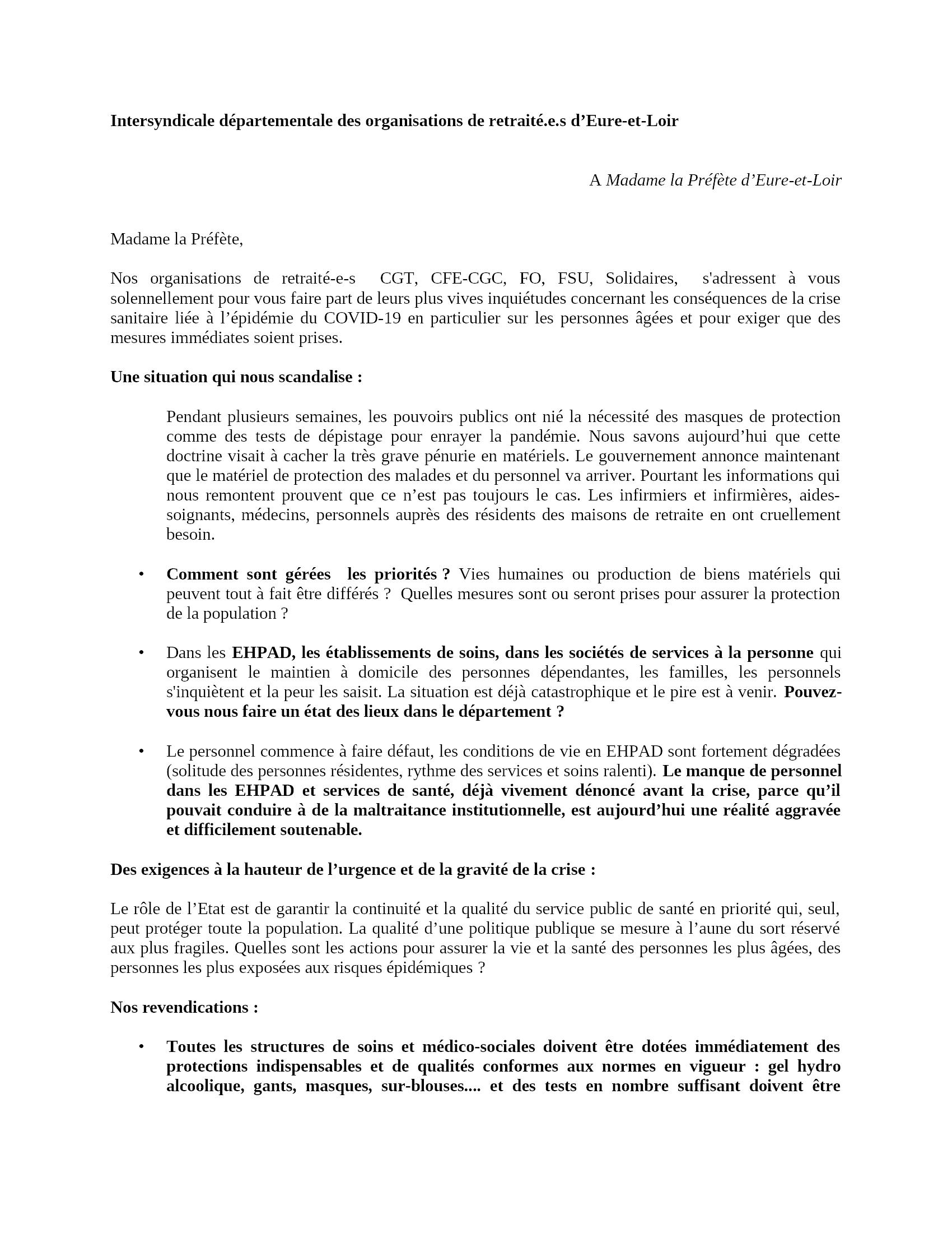 Intersyndicale Retraités-28 Lettre-Madame-la-Préfète 16-04-2020 [R]