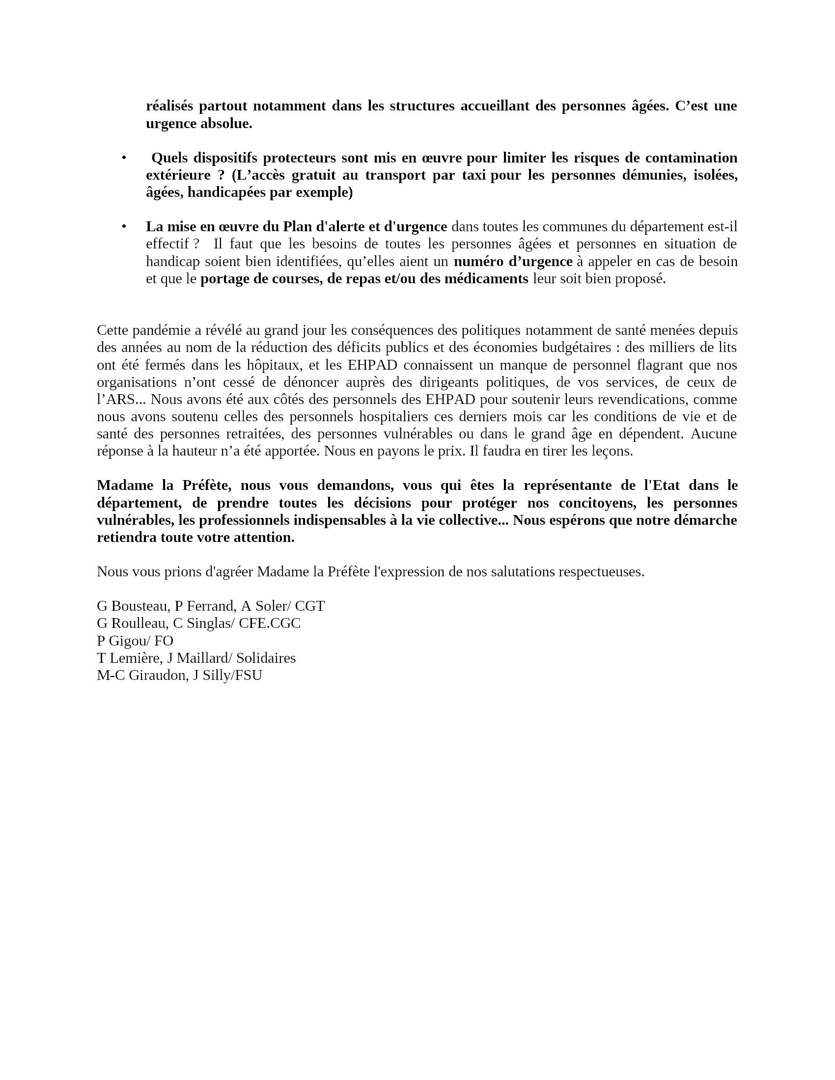 Intersyndicale Retraités-28 Lettre-Madame-la-Préfète 16-04-2020 [V]