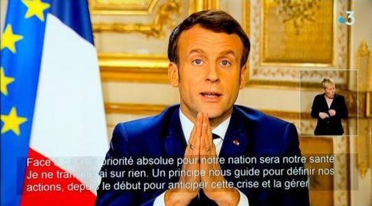 Macron 12-03-2020 [Capture d'écran]