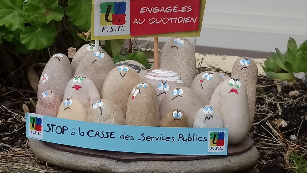 @ Une composition artistico-syndicale à Chartres 1er Mai 2020