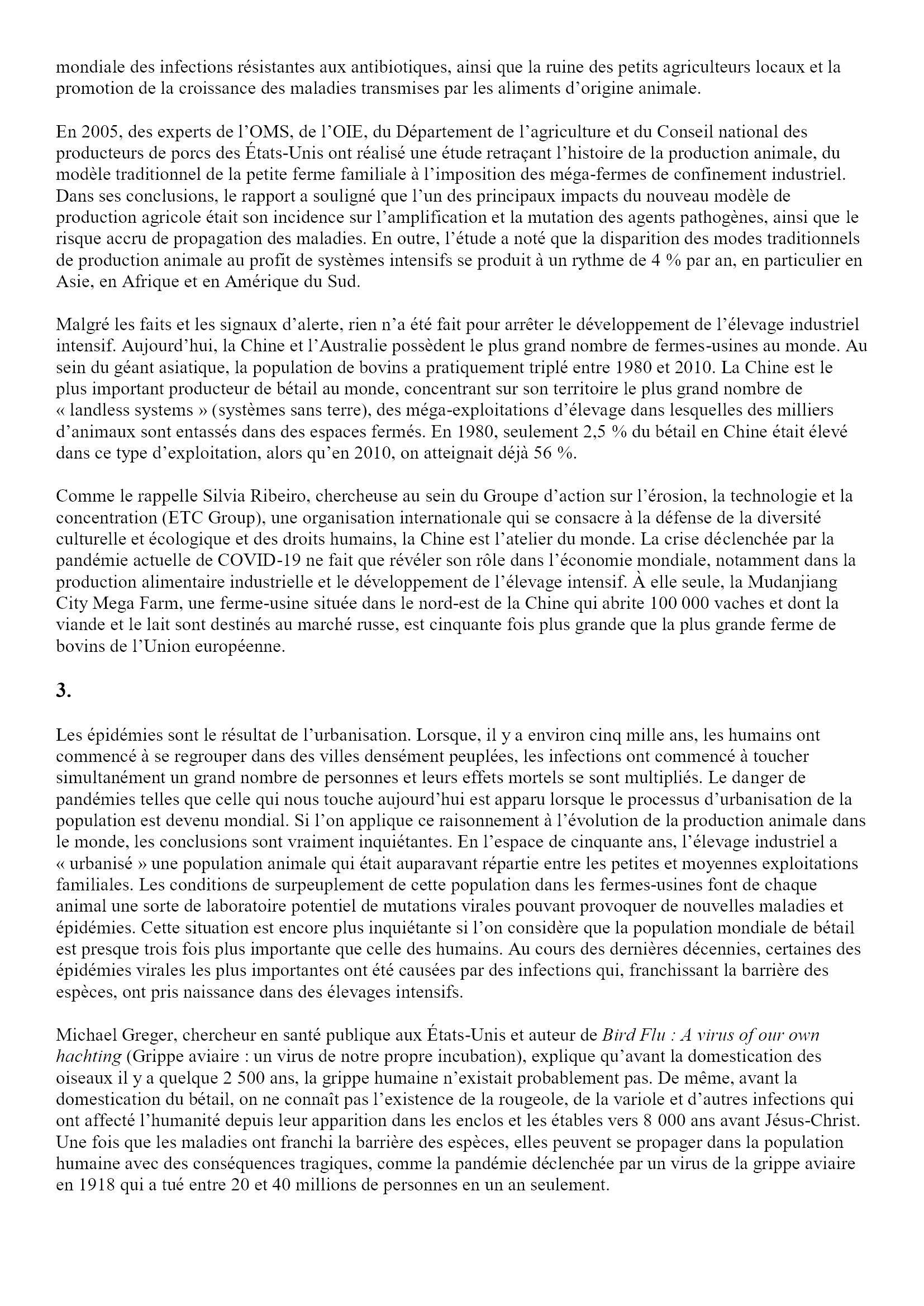 Causalité de la pandémie, caractéristiques de la catastrophe Angel Luis Lara 2x5