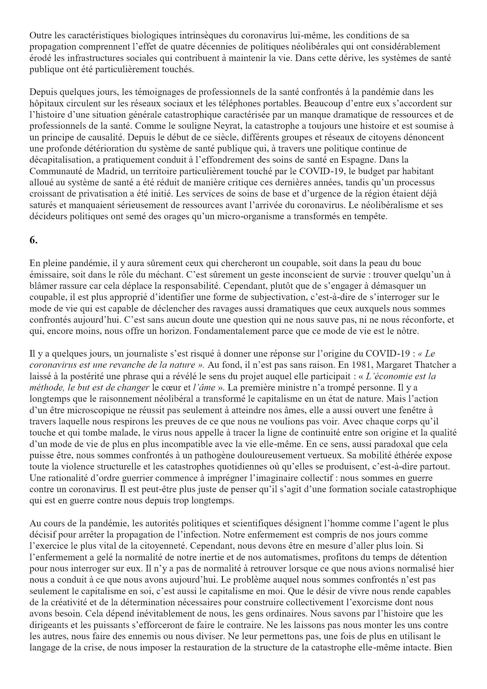 Causalité de la pandémie, caractéristiques de la catastrophe Angel Luis Lara 4x5