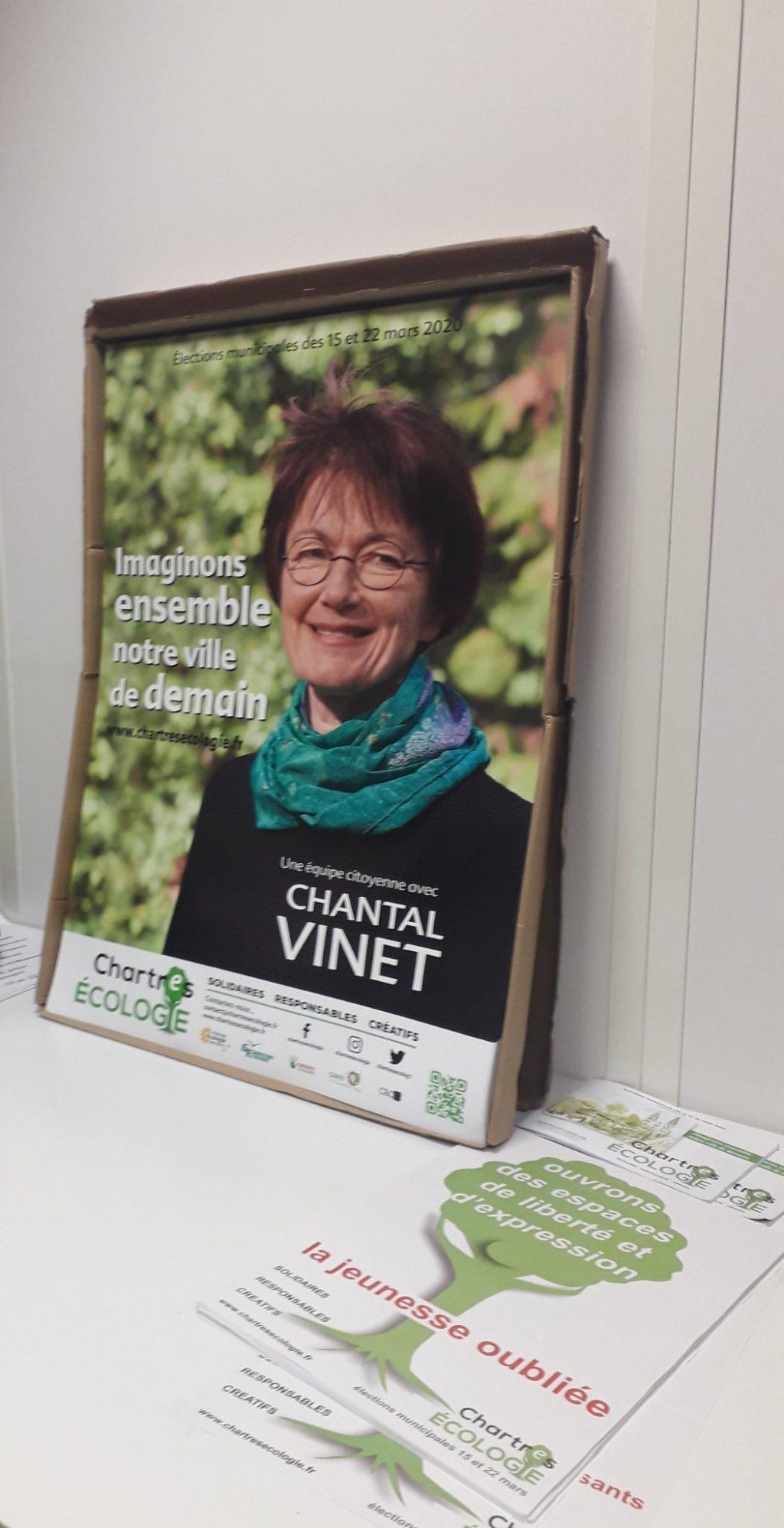 Chantal Vinet Chartres Écologie (affiche) [capture twitter]