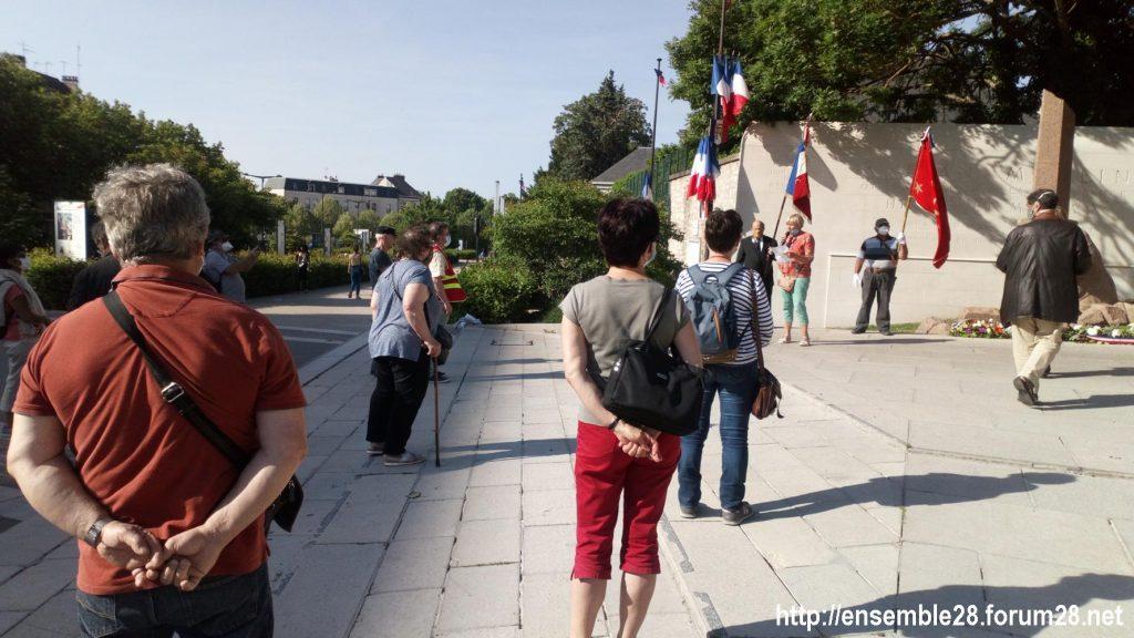 Chartres 27-05-2020 Cérémonie PCF Jean-Moulin CNR 1