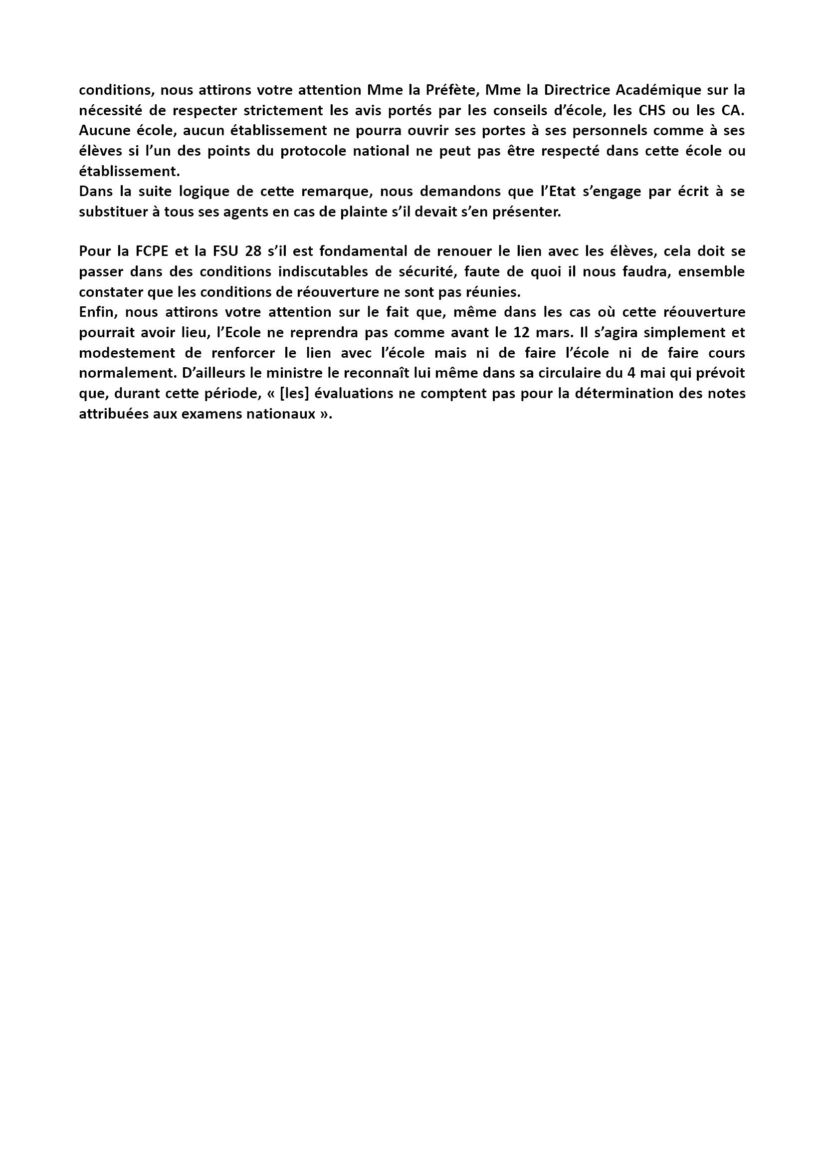 FCPE-FSU 28 Déclaration-CDEN-4-mai2020 Reprise 3x3