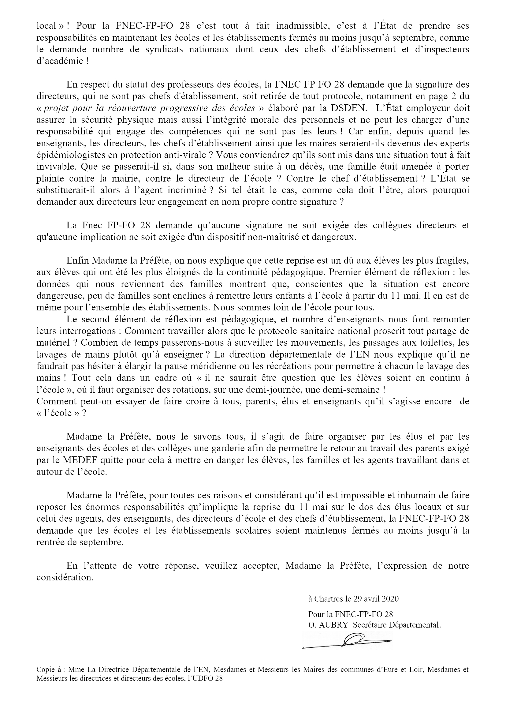 FNEC FP FO 28_courrier_prefecture 28-04-2020 2x2