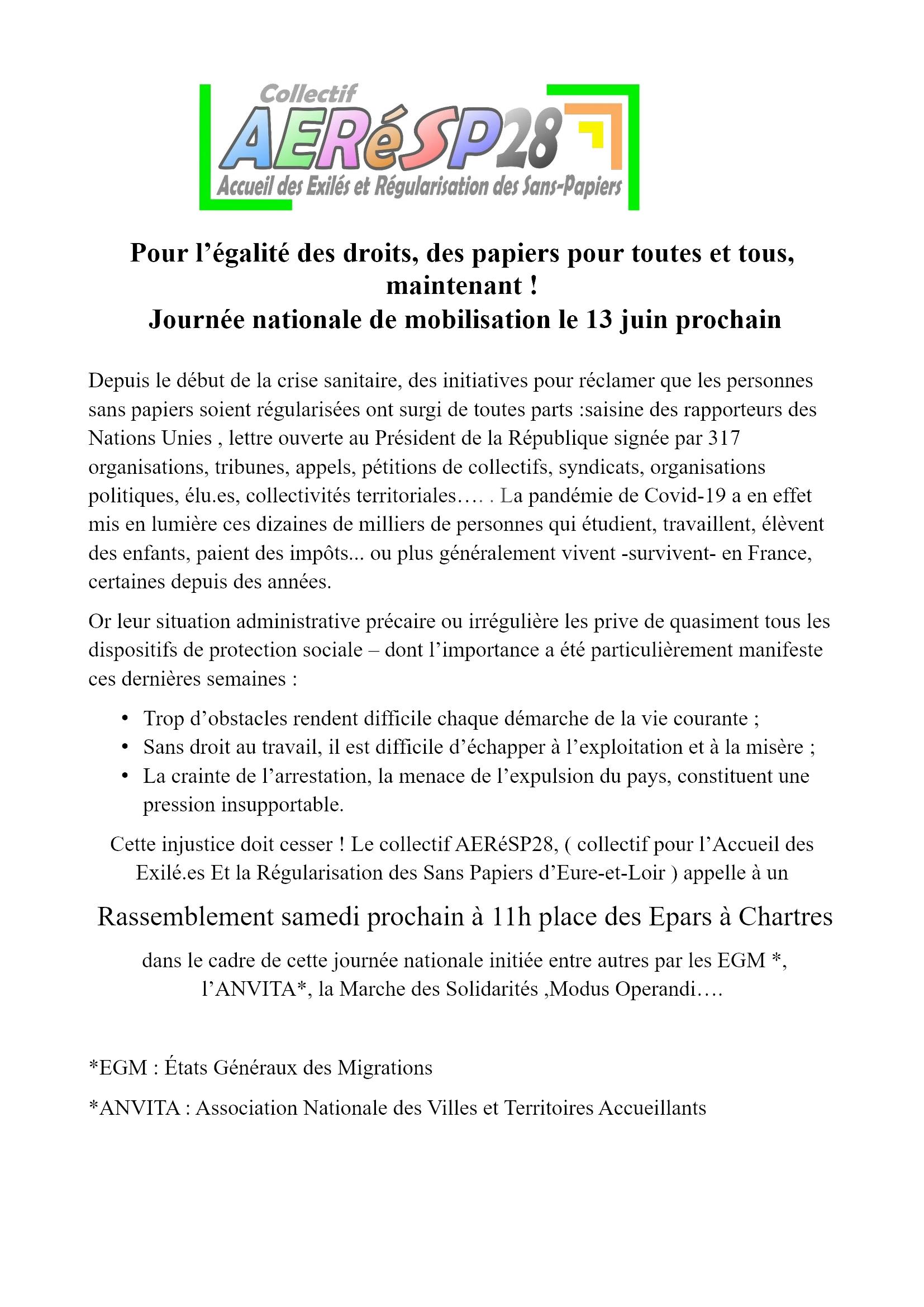 AERéSP ComPress Rassemblement 13juin2020