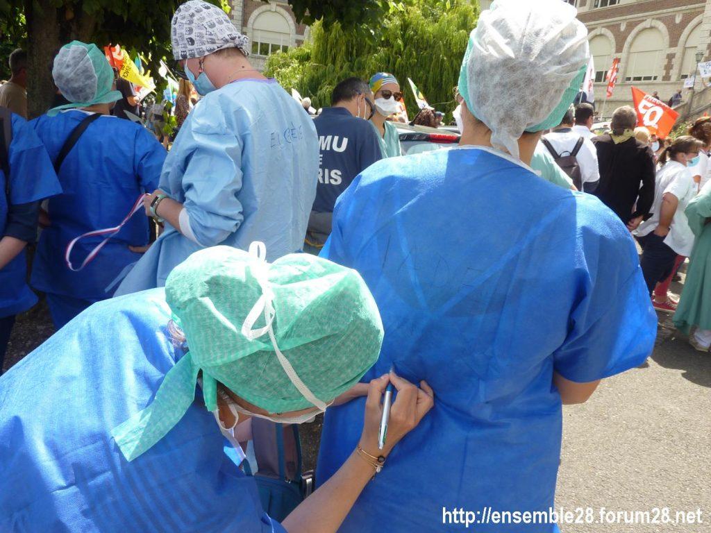 Chartres 16-06-2020 Manifestation Soignants Santé 07