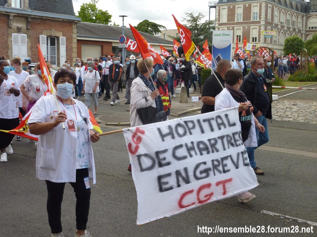 Chartres 16-06-2020 Manifestation Soignants Santé 09