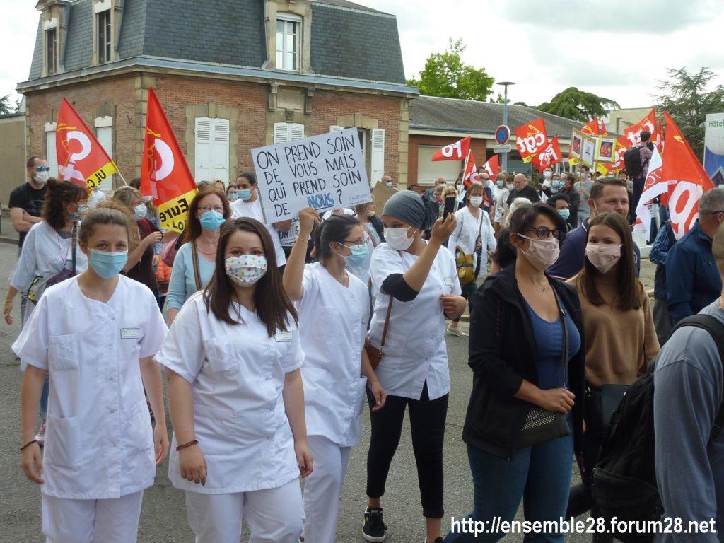 Chartres 16-06-2020 Manifestation Soignants Santé 10