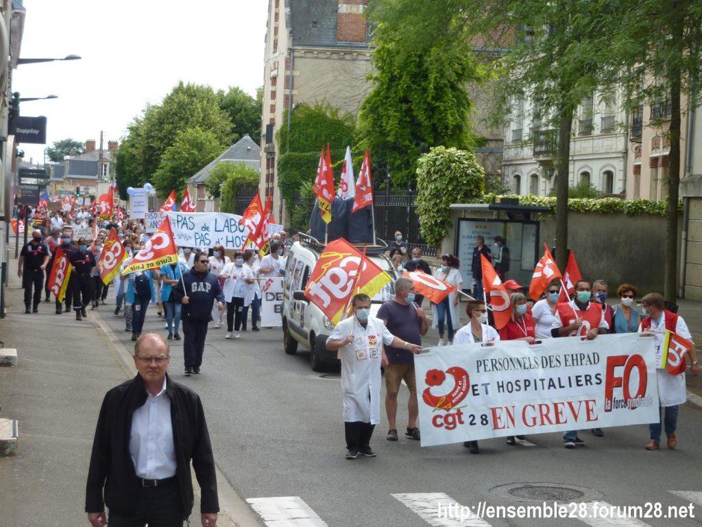 Chartres 16-06-2020 Manifestation Soignants Santé 11