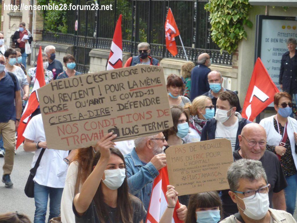 Chartres 16-06-2020 Manifestation Soignants Santé 12