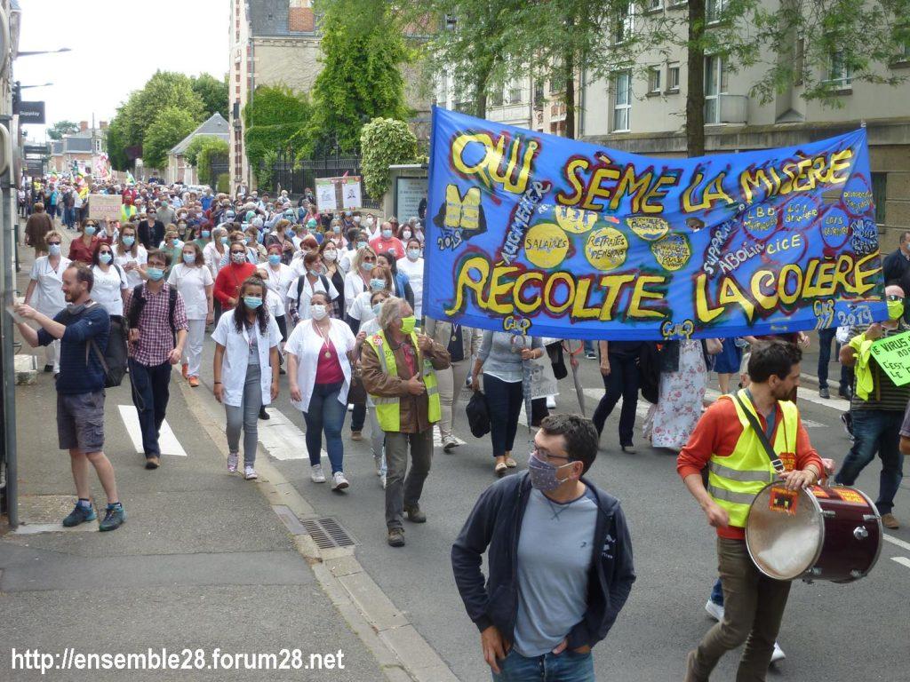 Chartres 16-06-2020 Manifestation Soignants Santé 15
