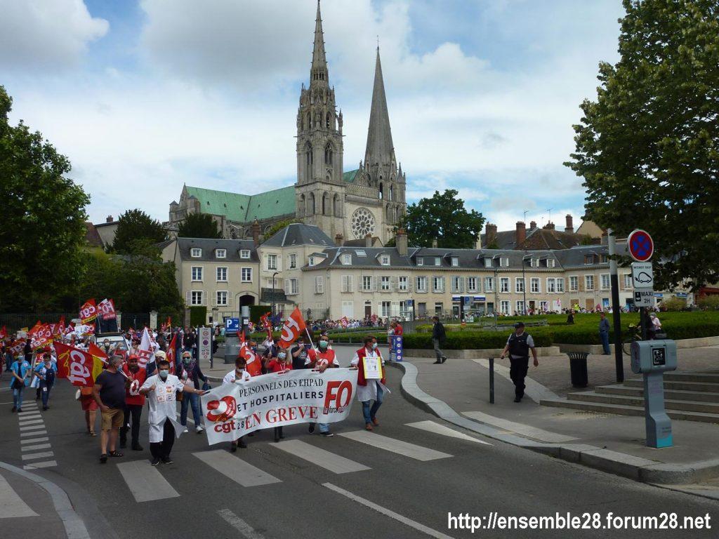 Chartres 16-06-2020 Manifestation Soignants Santé 17
