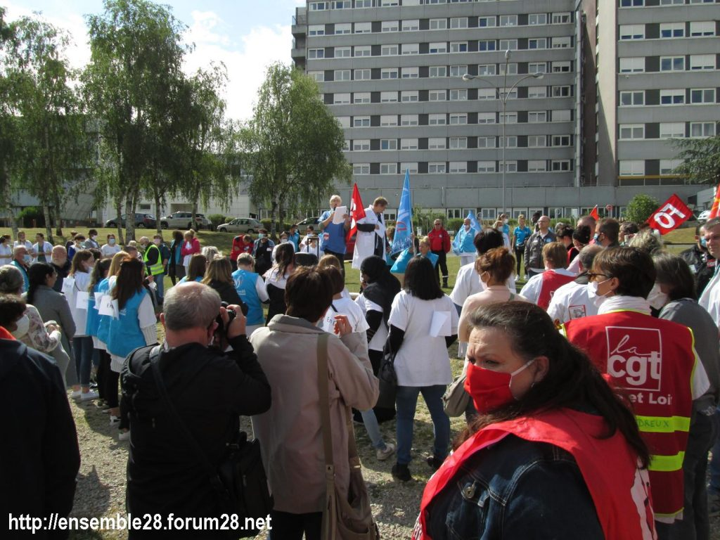 Dreux 16-06-2020 Manifestation Soignants Santé 05