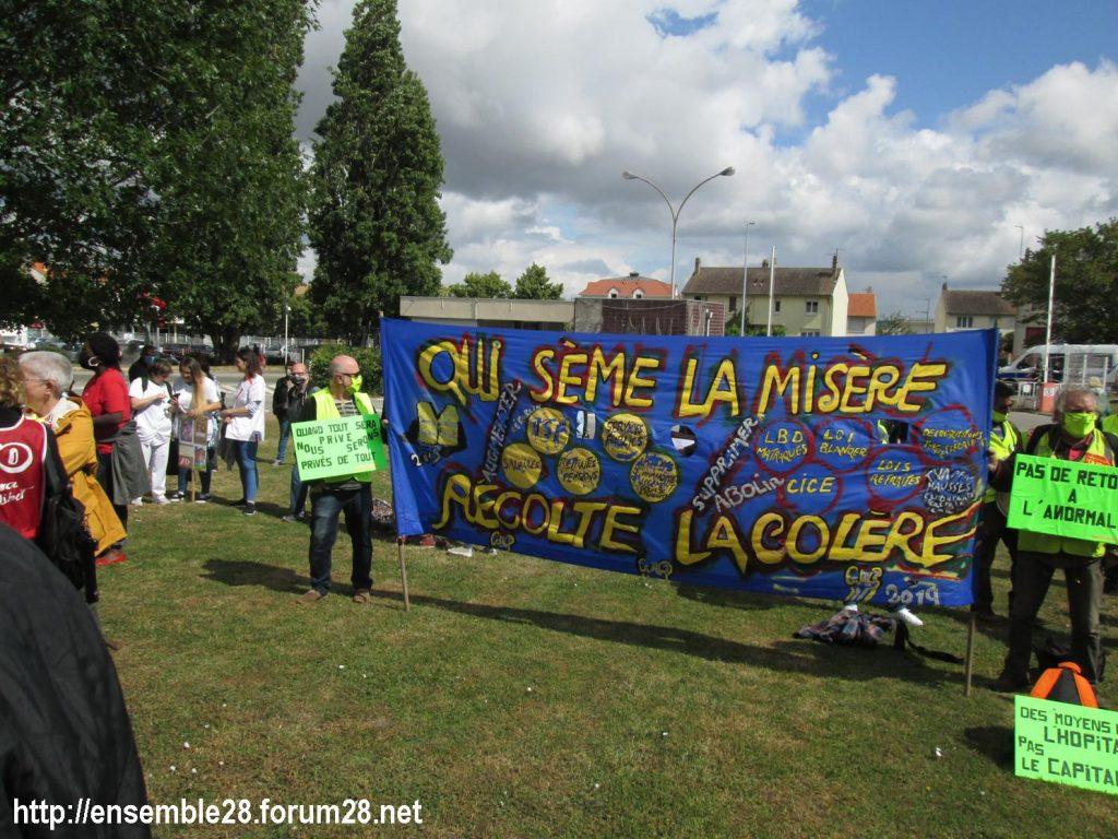 Dreux 16-06-2020 Manifestation Soignants Santé 08