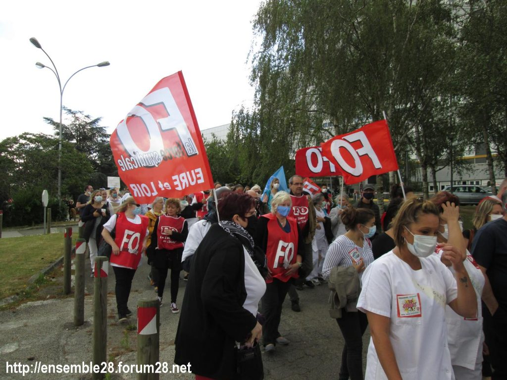 Dreux 16-06-2020 Manifestation Soignants Santé 09