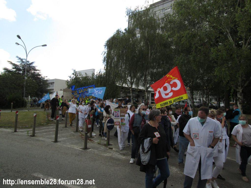 Dreux 16-06-2020 Manifestation Soignants Santé 11