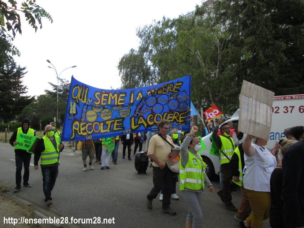 Dreux 16-06-2020 Manifestation Soignants Santé 12