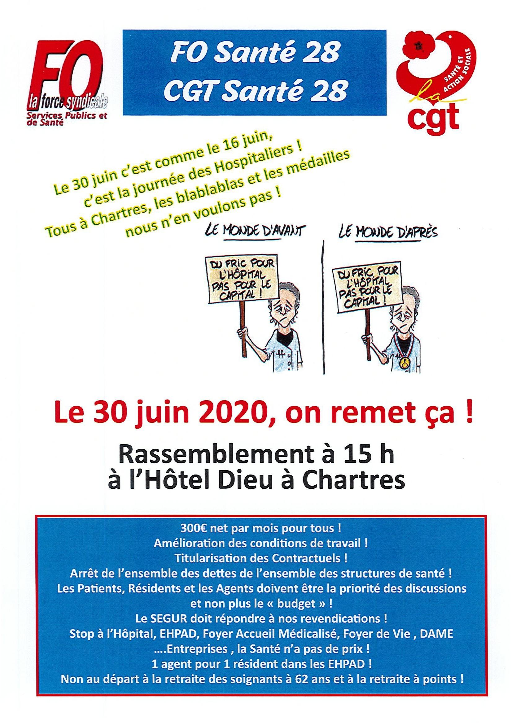 E&L FO CGT Santé Appel au 30 juin 2020